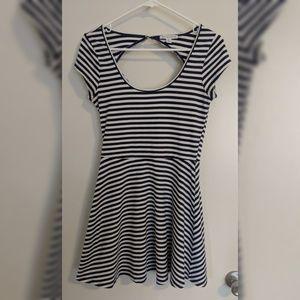 American Eagle Open Back Striped Dress